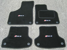 Car Mats in Black to fit Audi RS3 8P (2011-2012) + RS3 Logos (x4)