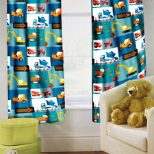 "Construction Children's Kids Curtains 66"" by 72"" + Tiebacks Nursery Bedding"