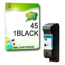 1 Black Non-OEM Ink Cartridge for HP 45Deskjet 880C 890c 895Cxi 9300 930C 935c