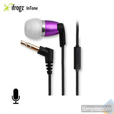 iFrogz Spectra Headphones Earphones Nylon Cable w/ MIC for Android iPhone PURPLE