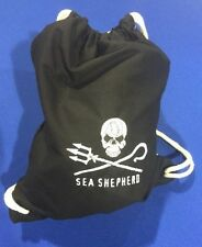 Sea Shepherd Embroidered Jolly Roger Gymsac, PE, Gym Bag,  Pirate
