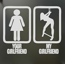 your girlfriend my girlfriend bondage sticker Funny JDM lowered car window