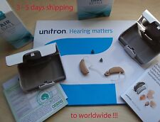 2 x unitron (PHONAK) Quantum2 hearing aids SEVERE-PROFOUND with lots of GIFTS!!!