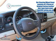 2005 Ford Excursion Eddie Bauer 6.0L Diesel -Leather Steering Wheel Cover Black