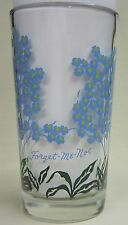 Forget-Me-Not Peanut Butter Glass Glasses Drinking Kitchen Mauzy 58-7