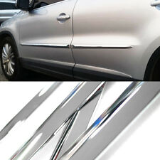 Chrome Side Skirt Door Line Sill Cover Molding Garnish Trim 4Pcs for All Vehicle