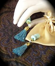 Breakfast at Tiffany's Style Teal & Gold Tassels Sound Reduction Ear Plugs