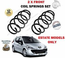 FOR PEUGEOT 207 SW ESTATE AIR CON 1.6 HDI + 16V 2007- NEW 2 X FRONT COIL SPRINGS
