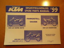 OEM 99 KTM Chassis 640 LC4 Super Moto Competion 400 640 LC4 R Spare Parts List