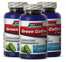 Fat Burner For Men - Green Coffee Cleanse 400mg - Cardiovascular Health Pills 3B