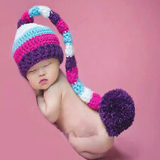 Newborn Baby Multi-colored Hat Cap Crochet Knitted Studio Photography Photo Prop