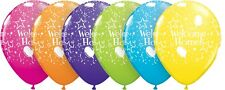 """25 x 11"""" Assorted Welcome Home latex Balloons Ideal Party Decoration"""