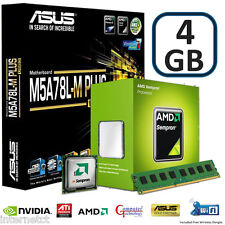 AMD 145 CPU 4GB DDR3 ASUS M5A78L-M PLUS USB3 MOTHERBOARD GAMING UPGRADE BUNDLE