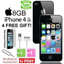 Apple iPhone 4S 8GB Factory Unlocked Smartphone Black White Good Condition AU