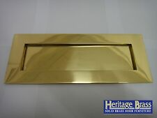 "HERITAGE BRASS VICTORIAN BRASS LETTER PLATE/ LETTER BOX 10""x4"" (255x98mm) - NEW"