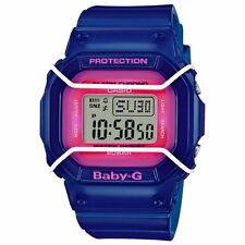 New Casio BGD501FS-2 Baby-G Wire Face Protected Blue Pink Digital Ladies Watch