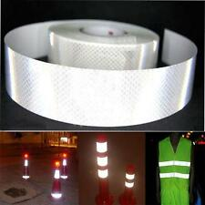 """2""""X10' 3M Silver White Reflective Safety Warning Conspicuity Tape Film Sticker W"""