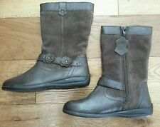 BROWN YOUNGER GIRLS UK SIZE 13/EU 32 long/Winter Suede and Leather