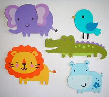 Cute Animals Safari Hippo Crocodile Lion Die Cut Paper Scrapbook Embellishment