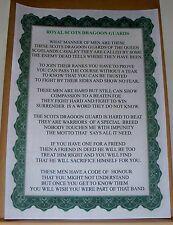 Royal Scots Dragoon Guards Poem.