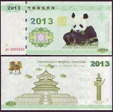 Chine - Billet - Protection du Panda Géant de David - TEST NOTE - 2013 - NEUF