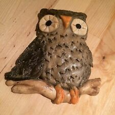 Retro Vintage Kitsch Foam Craft Owl Plaque Wall Hanging Decor
