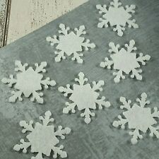 12 Snowflakes felt die cut white or red Christmas, applique, Advent calendar