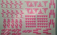 Sampler #2 Variety Sheet of 50 Nail Vinyls!  Heart Scribble Lightning Zig Zag