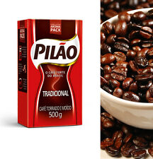 8 Bags Traditional Ground Coffee Brazilian  PILAO 500g - Vacuum