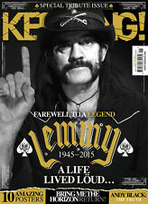 KERRANG Magazine Lemmy Motorhead 1945-2015.A Life Lived Loud SPECIAL TRIBUT NEW