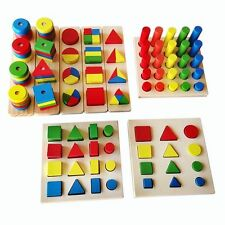 Montessori Educational Wooden Toy Preschool Geometry Cognitive Toys