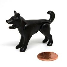 Playmobil Vintage Black Howling Barking Dog Mouth Open Sits Stands 3293