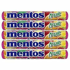 Mentos Fruit Chewy Candy with Natural Flavours - Pack of 5
