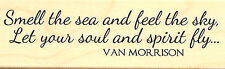 Smell The Sea Text, Wood Mounted Rubber Stamp IMPRESSION OBSESSION - NEW, C13006