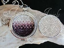 GENUINE STERLINA MI MILANO REVERSIBLE CRYSTAL COIN/MONEDA 4 PENDANT/KEEPER AJMM
