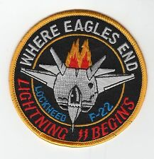 F-22 Where Eagles End - Stealth BC Patch Cat No M5801