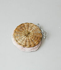 Vintage Sweet Grass Needle Case Basket Pin Holder Woven Indian