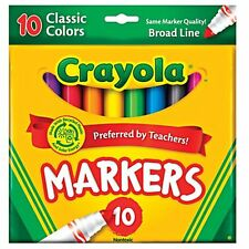 Crayola Broad Line Markers, Classic Colors, 10 Ct. (1 Case of 12)