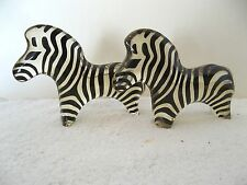 (2) Palatnik Kinetic Chunky Zebra Lucite Acrylic Sculptures Figurines 260785