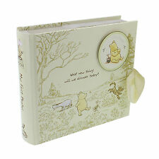 "Photo Album Disney Winnie The Pooh Cream 80 4""x6"" Photos Engraved FOC DI165"