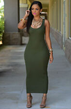 Sexy Women's Summer Bandage Bodycon Evening Party Cocktail Maxi Long Dress S