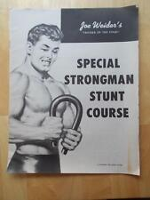 "JOE WEIDER ""Special Strongman Stunt Course"" muscle course booklet 1959"