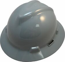 MSA V-Gard GRAY Full Brim Safety Hard Hat NEW One Touch Suspension FAST SHIP