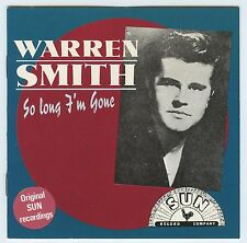 WARREN SMITH So Long I'm Gone - Charly / SUN 24 song import issue