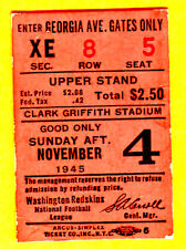 VINTAGE 1945 NFL FOOTBALL TICKET STUB-11/4/45 WASH REDSKINS/CHI CARDINALS