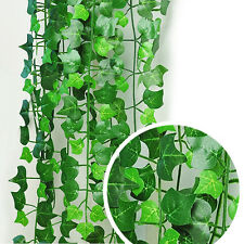 8.2feet Green Artificial Hanging Ivy Leave Plants Vine Fake Foliage Home