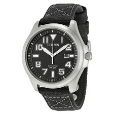 Citizen Military Black Dial Mens Watch AW1410-08E