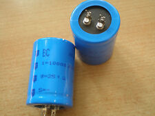 Snap in Aluminium Capacitor 10000uf 25v size 35 x 50 mabe by BCC 2pcs £5.00