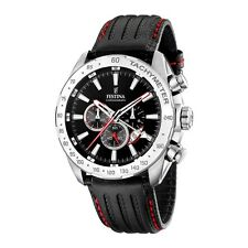 Festina F16489-5 Mens Black Chronograph Dual Time Watch RRP £169