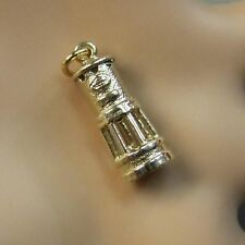 9ct gold new  miners davy lamp charm